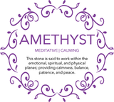 Amethyst Meditative and Calming Lava Gemstone Diffuser Bracelet