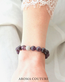 Amethyst and Lava Gemstone Aromatherapy Diffuser Bracelet by Aroma Couture