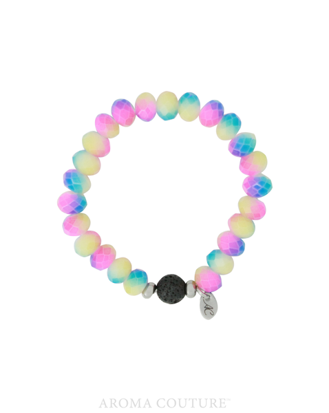 Kid's Rainbow Lava Diffuser Bracelet by Aroma Couture Australia