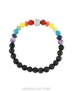 Chakra Lava Aromatherapy Diffuser Bracelet handmade by Aroma Couture