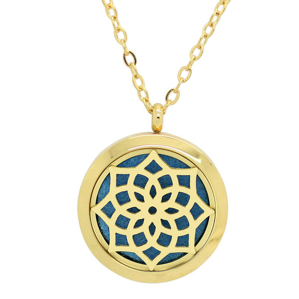 Blossom Design Aromatherapy Diffuser Necklace - Free Chain