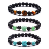 Buddha, Gemstone and Lava Healing Aroma Diffuser Bracelet - LIMITED EDITION