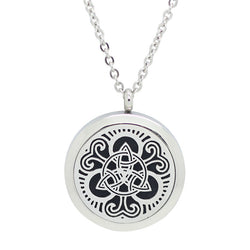 Celtic Trinity Knot Design Aromatherapy Diffuser Necklace - Free Chain