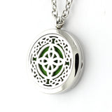 Celtic Design Aromatherapy Diffuser Necklace - Free Chain