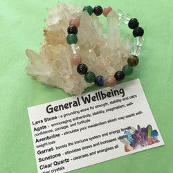 General Wellbeing Healing Crystal Gemstone Bracelet-