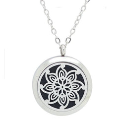 Kaleidoscope Design Aromatherapy Essential Oil Diffuser Necklace - Free Chain