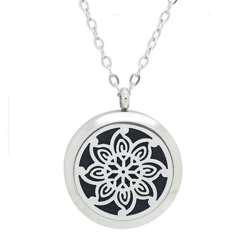 Kaleidoscope Design Aromatherapy Diffuser Necklace - Free Chain