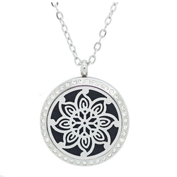 Kaleidoscope Design with Crystals Aromatherapy Diffuser Necklace - Free Chain