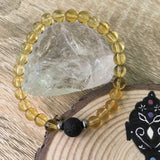 Kid's Citrine and Lava Stone Aroma Diffuser Bracelet - Healing, Luck and Protection