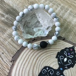 Kid's Howlite and Lava Stone Aroma Diffuser Bracelet - Buy One, Get One 1/2 Price