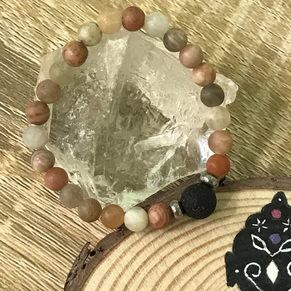Kid's Sunstone and Lava Stone Aroma Diffuser Bracelet