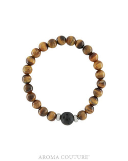 Kids Tiger's Eye and Lava Diffuser Bracelet- Aroma Couture™
