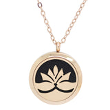Lotus Flower Design Aromatherapy Diffuser Necklace - Free Chain