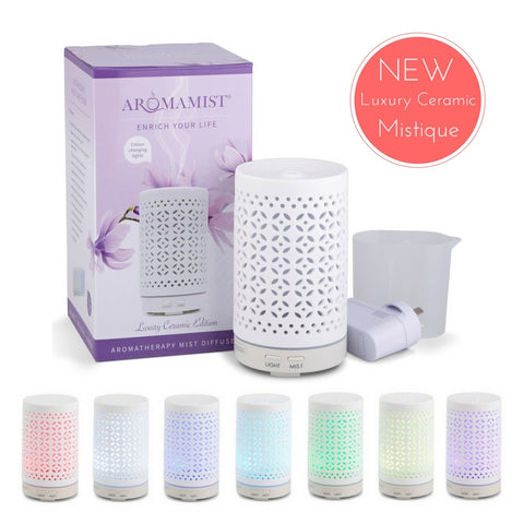 Ultrasonic Aroma  Luxury Ceramic Mist Vaporiser Diffuser - Mistique