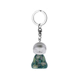 Little Buddha Figurine Keychain - Key Ring - Peace Within - Gift Idea