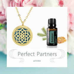 doTERRA Balance Blossom Design Aromatherapy Diffuser Necklace - Gift Box