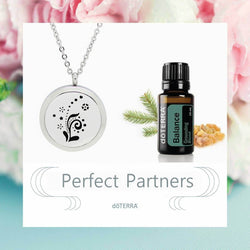 doTERRA Balance NEW Floral Design Aromatherapy Diffuser Necklace - Gift Box