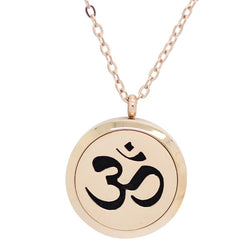 Sanskrit Om Design Aromatherapy Diffuser Necklace - Free Chain