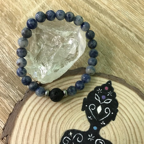 Kid's Sodalite and Lava Stone Aroma Diffuser Bracelet - Buy One, Get One 1/2 Price