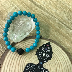 Kid's Turquoise and Lava Stone Aroma Diffuser Bracelet - Buy One, Get One 1/2 Price