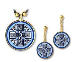 Celtic Unity Cross Pendant and Earrings - handcrafted by Hermit Studios