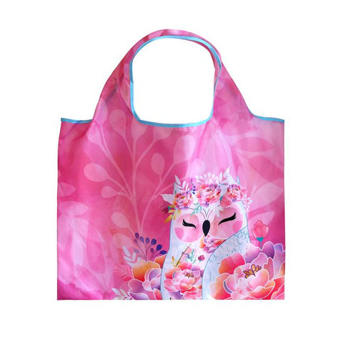 KINDNESS - Owl ECO Foldable Shopping Bag Tote - Wise Wings - Gift idea