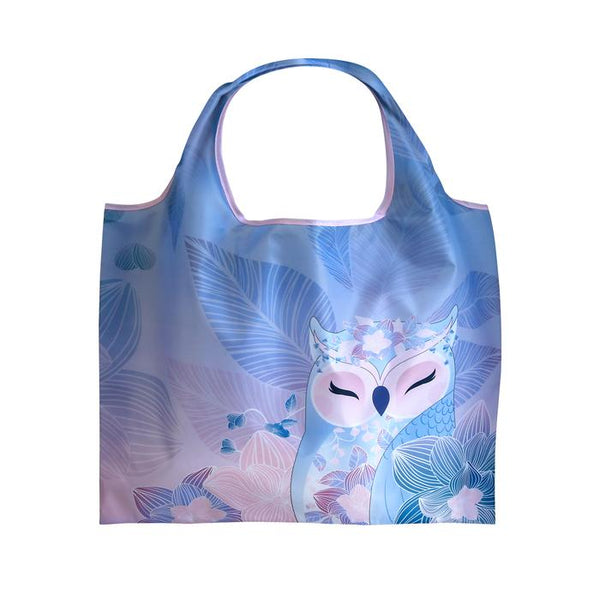 KNOWLEDGE - Owl ECO Foldable Shopping Bag Tote - Wise Wings - Gift idea