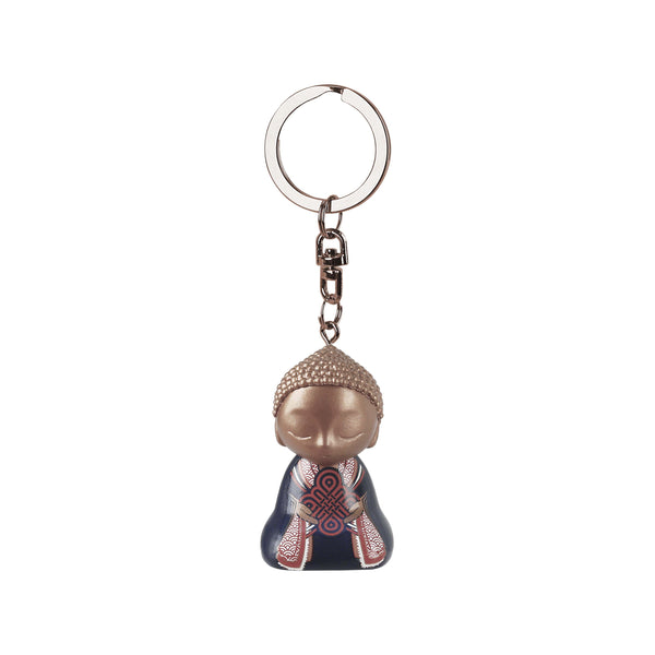 Little Buddha Figurine Keychain - Key Ring - Worth Doing - Gift Idea