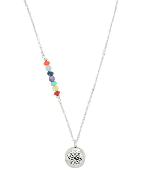 Chakra and Meditate Aromatherapy Diffuser Gemstone Necklace by Aroma Couture