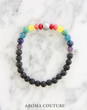 7 Chakra Lava Aromatherapy Diffuser Bracelet handmade by Aroma Couture Australia