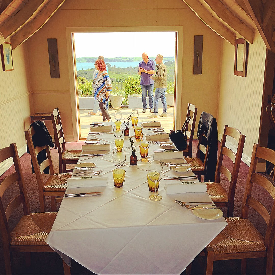 new zealand premium tour customised luxury private bespoken tailor-made tours wine food art nature hiking exploring tours waiheke island auckland mudbrick vineyard and restaurant private dining room