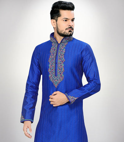 Ethnic wear for men, brocade, silk, dupion silk, zari, party wear, online shopping, embroidered, printed, kurta pyjama.