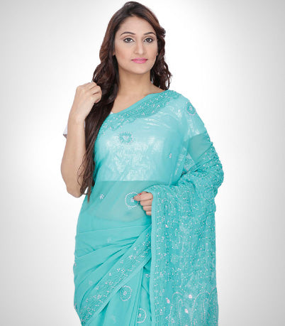 Ethnic wear for women, cotton, georgette, online shopping, online sarees, saree, party wear, casual wear, embroidered, chikankari.