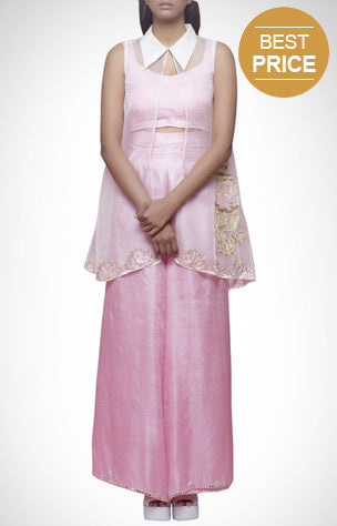 Contemporary wear for women, linen, tussar silk, dabka, dress, jumpsuits, pants, tops, sets, fusion wear, embroidered.
