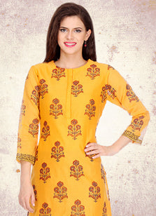 Ethnic wear for women, kurti, chanderi, silk, cotton, party wear, casual wear, embroidered, block print.