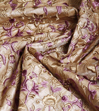 Purple Embroidered Tussar Silk Salwar Kameez