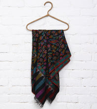 Charcoal Kani Embroidered Pure Pashmina Shawl