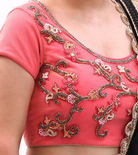 Pink Embroidered Net Blouse