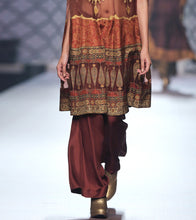 Maroon Silk Blend Applique Cape With Bustier And Palazzo