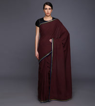 Maroon Cotton Gota Work Saree