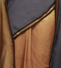Beige & Grey Cotton Dip Dyed & Gota Work Saree