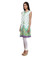 White Viscose Crepe Embroidered Tunic