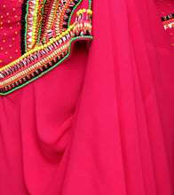 Pink Viscose Georgette Embroidered Anarkali Suit With Cape