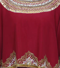 Maroon Pure Crepe Embroidered Anarkali Suit With Cape