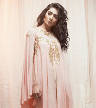 Peach Georgette Sequined Top Set