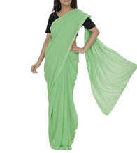 Green Embroidered Georgette Sarees