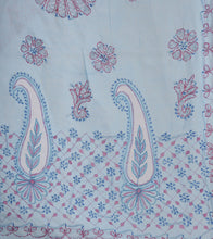 Blue Embroidered Cotton Sarees