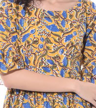 Yellow Cotton Printed Dress