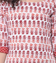 White Cotton Printed Tunic