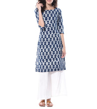 Blue Cotton Printed Tunic